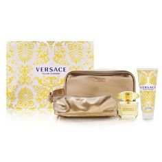 Yellow Diamond by Versace for Women 4 Piece Set Includes: 3.0 oz Eau de Toilette Spray + 3.4 oz Perfumed Body Lotion + Travel Pouch + Toilettry Pouch by Versace. $65.94. Buy Versace Gift Sets - Yellow Diamond by Versace for Women 4 Piece Set : 3.0 oz Eau de Toilette Spray + 3.4 oz Perfumed Body Lotion + Travel Pouch + Toilettry Pouch. Save 37%!
