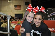 When I was younger at cheer