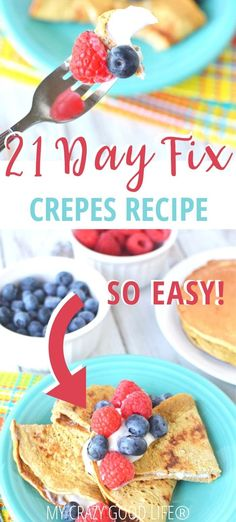 This easy crepe recipe is the perfect weekend breakfast recipe. These healthy crepes are made with oatmeal and egg whites for a heart healthy breakfast. This is our fool proof recipe to make the best savory or sweet crepes! 21 Day Fix Crepe Recipe Heart Healthy Breakfast, 21 Day Fix Breakfast, Breakfast Crepes, Breakfast Ideas, Breakfast Sandwiches, Breakfast Bowls, Healthy Crepes, Savory Crepes, Mexican Breakfast Recipes