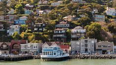 Waterfront Village, Sausalito, California. Can I just tell you that Sausalito was my absolute favorite place that we visited in California? I had an awesome hotdog in the Waterfront Village and sat outside and ate it. What a beautiful city!!