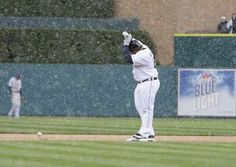 The Rays can't take the snow on April 10th 2012 in Detroit