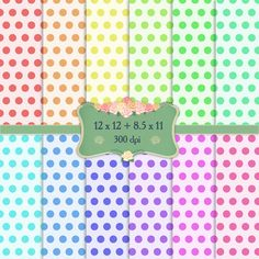 Digital Paper Celebrate Dot Striped Backdrop Set Abstract Birthday Celebration Zigzag Polka Surprise Repetition Gingham Scrapbooking Fun