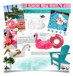 """""""Pool Floats"""" by dooda13 ❤ liked on Polyvore featuring interior, interiors, interior design, home, home decor, interior decorating, Bomedo, Louis Vuitton, Polywood and Sunnylife"""