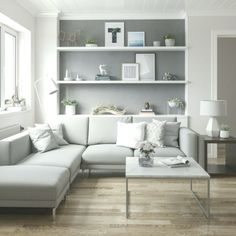 Inspiring Scandinavian Living Room Design Ideas The living room is only one of the rooms in the house that's always under careful scrutiny and in major renovations nearly every year or two. Although your living room is not as spacious, it … Cozy Living Rooms, Living Room Grey, Living Room Modern, Home Living Room, Apartment Living, Minimal Living, Small Living Room Designs, Monochromatic Living Room, Scandi Living Room