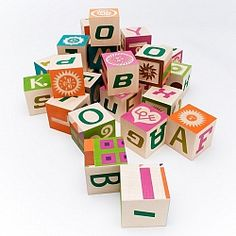 This set of contemporary alphabet blocks are an homage to Girard's playful mid-century style and his long-held admiration for folk art. Created by the design company House Industries in 2006 to coordinate with the San Francisco MoMA's exhibit on Girard, the 28 wood blocks feature a cleverly-adapted factory logo puzzle.