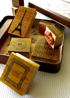paris rubber stamps