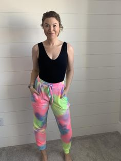 Tie-Dye For Rainbow Joggers Girl Gang, All The Colors, Joggers, Tie Dye, Rainbow, Colour, How To Wear, Fashion, Rain Bow