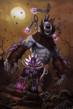 Diablo 3 Anniversary - Gargantuan Witch Doctor by StaplesART.deviantart.com on @DeviantArt