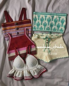 Crochet Crop Top, Cute Crochet, Crochet Bikini, Knit Crochet, Crochet Clothes, Diy Clothes, Crop Top Pattern, Swimsuit Pattern, Knitting Stitches