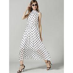 European Inspired Polka Dot Dress