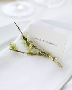 "See+the+""Simple+Place+Cards""+in+our+Twigs+and+Branches+Wedding+Ideas+gallery"