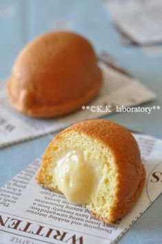 """Material four fluffy custard cake! Sweets Recipes, Baking Recipes, Bread Recipes, Mini Cakes, Cupcake Cakes, Donuts, Delicious Desserts, Yummy Food, Japanese Cake"