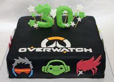 Overwatch birthday cake