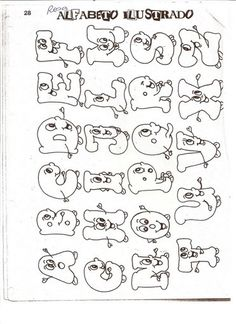 Pintura em Tecido Passo a Passo: TOALHAS INFANTIS PINTADAS - riscos de alfabetos
