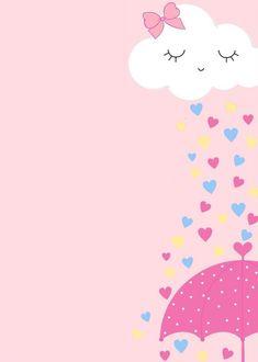 Pink Wallpaper Anime, Cute Wallpaper For Phone, Rainbow Wallpaper, Flower Wallpaper, Baby Girl Birthday Theme, Happy Birthday Greetings Friends, Baby Shawer, Baby Clip Art, Instagram Frame