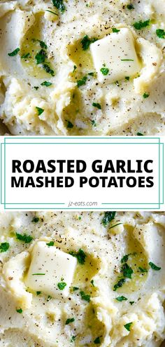 Roasted Garlic Mashed Potatoes take the ultimate comfort food and everyone's favorite side dish to the next level! #garlicmashedpotatoes #roastedgarlic #mashedpotatoes