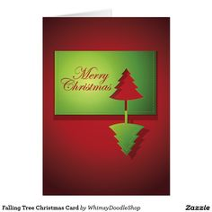 Falling Tree Christmas Card