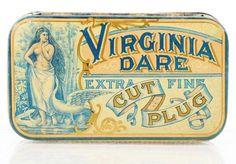 Virginia Dare Extra Fine Cut Plug Flat Pocket Advertising Tobacco Tin
