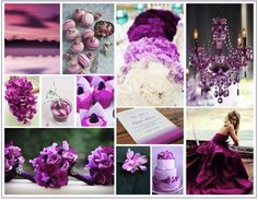 Mood board for this seasons hottest colour -Radiant Orchid 2014