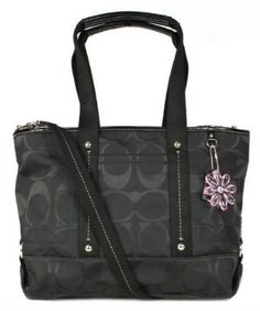 'NWT Coach F18844 Kyra Daisy Black Signature' is going up for auction at  4pm Sun, Jul 14 with a starting bid of $1.