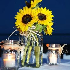 Wedding - sun flower decor