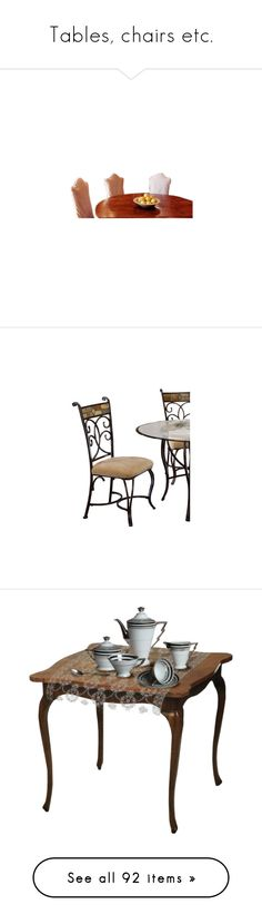 """""""Tables, chairs etc."""" by asia-12 ❤ liked on Polyvore featuring home, furniture, tables, dining tables, dining table, dining sets, flowers, upholstery furniture, upholstered furniture and upholstery fabric furniture"""