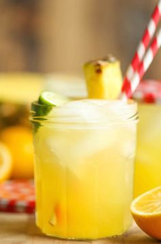 A refreshing pineapple lemonade is the perfect drink to sip on a hot summer day.