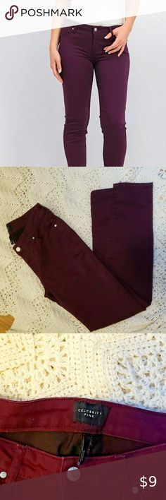 Celebrity Pink Big Girls Coated Skinny Potent Purple Jeans Size 8