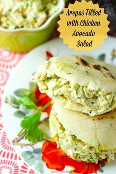 Arepas Filled With Avocado Chicken Salad (Reina Pepiada) Delicious Venezuelan Arepas filled with the best avocado chicken salad. Perfect for a quick lunch and dinner! Use it in sandwiches, arepas or by itself! Yum #ad #PanFan #IC