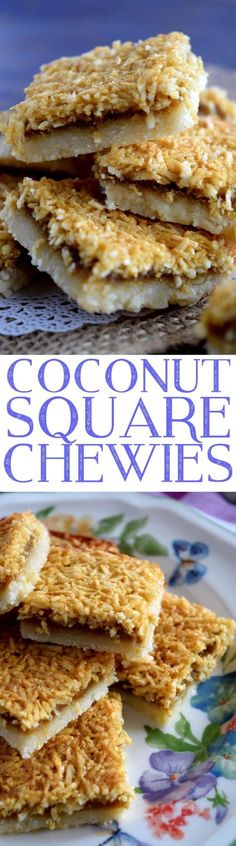 Coconut Square Chewies - Lord Byron's Kitchen