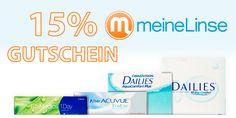 15% Rabattcode auf Dailies Kontaktlinsen