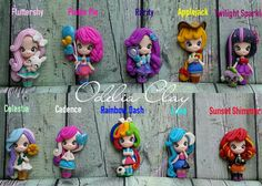 My Little Ponies Equestria Girls clay pendants
