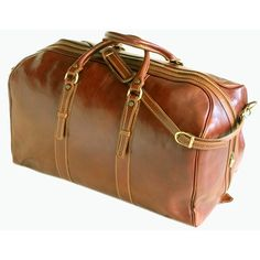 "Floto Imports Venezia 22"" Grande Leather Travel Duffel"