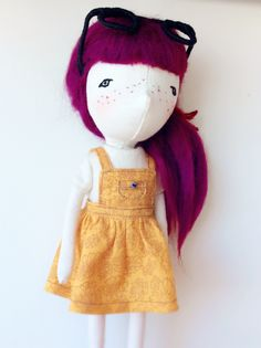 Handmade doll by A Stitch To Remember Handmade Dolls, Plush, Stitch, Sewing, Room, Full Stop, Dressmaking, Couture, Stitching