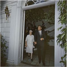 Kennedy meeting with Foreign Minister of Israel Golda Meir in Palm Beach, Fla., in 1962.