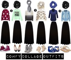 Comfy Collage Outfits with Black Maxi Skirt - boho chic hijab, college hijab styles, converse with black skirt, desi hijab style, diy hijab, flare top with modesty, hijaab, Hijab, hijab fashion,