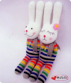 The rainbow Rabbit DIY sock dolls finished -  http://zzkko.com/book/shopping?note=10165 $18.69