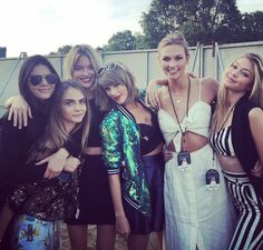 Taylor Swift and her pals... Cara's amazing..