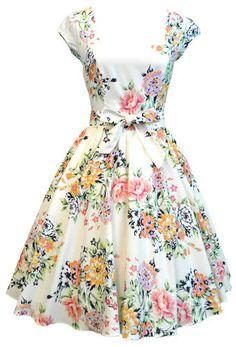 Lady Vintage Swing Dress in 22 Different Prints 50s Rockabilly Retro Size 8 22 | eBay