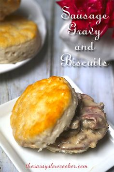 Sausage Gravy and Bisquits made in your slow cooker! Make it for Father's Day!