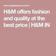 H&M offers fashion and quality at the best price | H&M IN