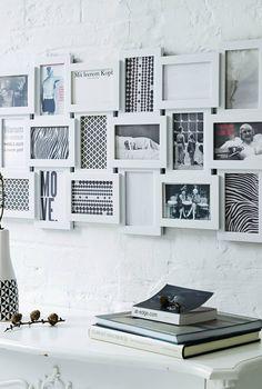 Multi picture white photo frame