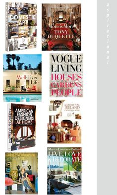 24 best interior design books on the blog today. www.stylebyemilyhenderson.  These 8 are the 'aspirational' books, aka houses of seriously rich people.