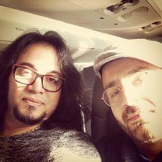 Shahin Najafi with Majid Kazemi in INSTAGRAM - به سمت گوتنبرگ، در طياره