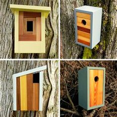 Modern bird houses from Twig & Timber