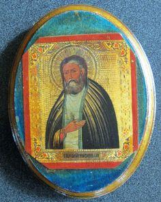 Saint Icon Wood Russian Seraphim Sarov Byzantine Catholic Art Orthodox Christ