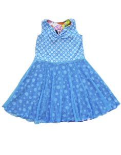 Blue girls dresses are fun... especially when they're reversible and they twirl!  Click on the link to see the other side.  You'll smile!  $78