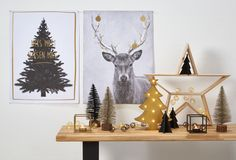 Kerst in huis! Zó fijn om het thuis helemaal gezellig te maken met behulp van toffe decoratie! :-) #kwantum #kerst #kerstmis #kerstdecoratie #wanddecoratie #hert