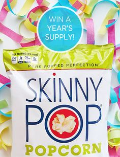I entered to win this amazing prize from PINCHme & SkinnyPop, you should too!