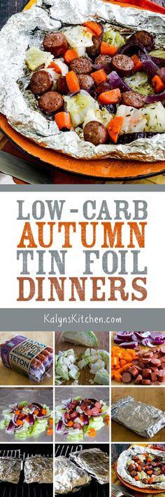 low carb autumn tin foil dinners